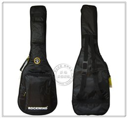 Wholesale Electric Bass Guitar Bag - Add more cotton bags waterproof apparatus of electric guitar Oxford ROCKWIND rock and roll wind electric bass bag