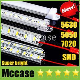 Wholesale hard shell cooler - Hard Rigid LED Bar Light SMD 5630 7020 5050 DC12V 50cm 36led 0.5m Meter Cool Warm Pure white Showcase Strip Light+U or V Style Shell CE ROHS