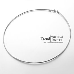 Wholesale Design Metal Charm - 50cm Simple Design Stainless Steel Torques Lobster Clasp Metal Fadeless Chain Necklace (VC-024)
