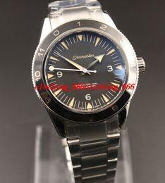 Wholesale Best Quality Wrist Watch - Luxury Men Watch NEW ! Sea0master-300 JBondMovie SPECTRE Men's Automatic ETA 8400 Best Quality Glass Back Mechanical Wrist watch Vedio