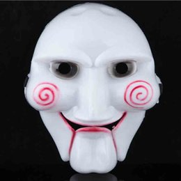 Wholesale White Horror Film Masks - Texas Chainsaw Massacre Horror Film Mask Full Face PVC Cosplay Volto Mask Halloween Party Cosplay Costume Decoration 10pcs HOT SALE SD330