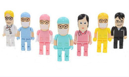 Wholesale Doctor Usb Flash Drive - 16GB 32GB 64GB Cartoon mini surgeon nurse doctor USB 2.0 USB Flash drive Memory stick Drive Thumbdrives for tablet PC