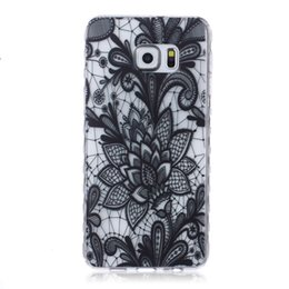 Wholesale ace plus casing - White Paisley Henna Flower Soft TPU Gel Cases For Samsung Galaxy S5 S6 Edge Plus J1 ACE J2 J3 Grand Prime G530 Core G360 G850F Cartoon cover