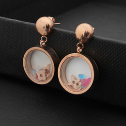 Wholesale Rose Flower Types - 2017 Foreign trade flower type jewelry earrings wholesale color crystal glass earrings 18K Rose Gold Earrings