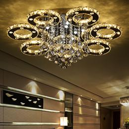Lámparas decorativas de techo online-Morden lujoso arte decorativo estilo moderno hogar restaurante K9 lustre araña de cristal accesorio de iluminación lámparas de luz de techo