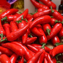 красный перец для оптовой продажи Скидка Оптовая искусственные овощи красный перец пластиковый Чили модель среднего измерения Чили модель реквизит украшения бесплатная доставка