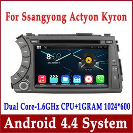Wholesale Kyron Actyon Dvd - Android 4.4 Car DVD GPS Navigation for Ssangyong Kyron Actyon 2006-2012 with Radio BT USB AUX SD MP3 DVR 3G WiFi Auto Stereo Video Head Unit