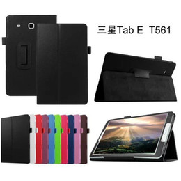 Wholesale Leather Covers For Tablets - Protective COVER For Samsung Tab E 9.6 T560 leather cover case funda For Samsung GALAXY Tab E 9.6 T560 SM-T560 tablet case