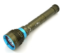 Wholesale Diving Flashlight 7x - New 7x XM -L2 LED Scuba Diver Diving Flashlight 100M 14000 Lumens L2 LED Torch 3Mode Waterproof Lantern Lanterna for Hunting