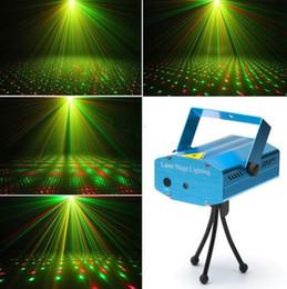 mini estrela laser estágio iluminação Desconto 2015 Novo Mini LED Red Green Laser Projetor Stage Iluminação Ajuste DJ Discoteca Festa Clube Luz FreeDHL