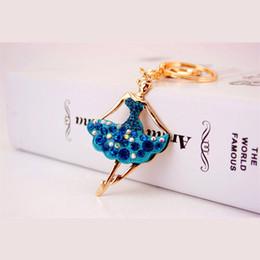 Wholesale Girl Dancer Jewelry - Beautiful Ballet Ballerina Dancer Girl Souvenir Gift Keychain Purse Pendant For Car Keyring Holder Women Jewelry 5 Colors