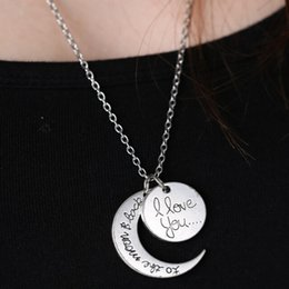 Wholesale Nice Friends - Nice Charm Family Gift Personal 2015 New I Love You To The Moon & Back Best Friend Friendship Necklace