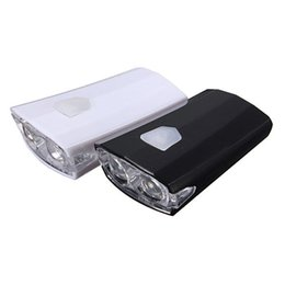 Wholesale Halogen Head Lights - Torch Ultra Bright USB Rechargeable 15 Lumens Front Bike Bicycle Light LA4266 Perfect For Night Cycling small order no tracking