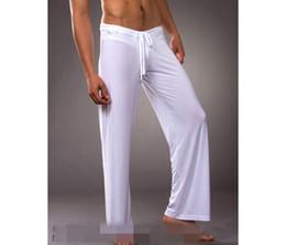 Wholesale Sport Pyjamas - Wholesale-Men Flirty Lounge Loose-fitting Sport Yoga Pants Pyjama Trouser Sleep Pant Dance Harem Sweatpants Sleep Bloomers casual Trousers
