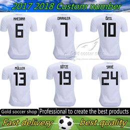 Wholesale Football German - 2018 Germany soccer jersey world cup Home Jerseys OZIL MULLER GOTZE HUMMELS KROOS BOATENG REUS German shirt football jerseys