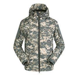 Wholesale Fast Wind Jacket - fashion new TAD shark skin soft shell jacket winter wind rain Mens Fleece can be customized Training Windproof Outerwear Coat Clothing fast