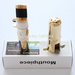Wholesale Saxophone Free Shipping - Wholesale- Brand New Free Shipping YANAGISAWA Metal Tenor Saxophone Mouthpiece Sax Mouth Size 5 6 7 8 9