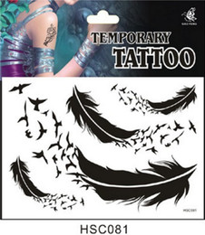 Wholesale Product Tattoo - 130 product A variety of design one-time Tattoo Stickers Feather JIA035