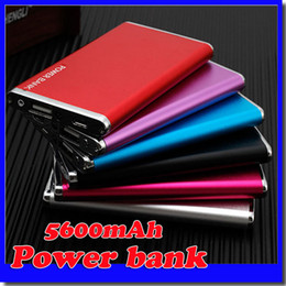 Wholesale Cellphone Battery Bank - New-Ultra thin 5600mAH Power Bank Battery Safety USB Charger Emergency for Mobile iphone6 Samsung S6 Android cellphones chargers
