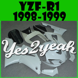 Wholesale Yamaha R1 1998 Body - In Stock Yes2yeah Injection Mold Unpainted (Unpolished) Fairings For Yamaha YZF R1 YZF-R1 1998 1999 98 99 Body Kit Y18Y00