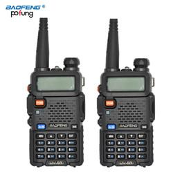 Wholesale Longest Range Walkie Talkie Vhf - Wholesale-2PCS Pofung  BaoFeng UV-5R Professional Dual Band VHF&UHF136-174MHz&400-480MHz Portable Walkie Talkie long-range wireless