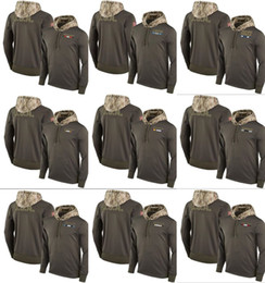 Wholesale Raiders Hoodie Xl - Lions Colt Ravens Falcon Bears Saints Tian Raider Viking Men Women Youth Olive Salute to Service Sideline Therma Pullover Hoodie