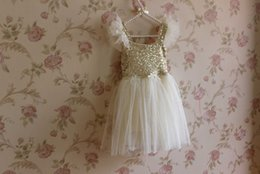 Wholesale Dresses Brace Blue - Summer Girls Paillette Braces Skirt Ruffles Party Dress Princess Dresses Tutu Skirt Kids Children Clothing Child Petticoat 90-130cm E1152