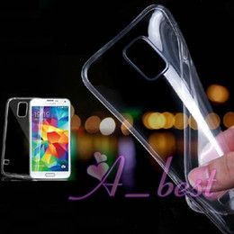 Wholesale S3 Mini Clear Case - For Galaxy S5 S4 S3 mini Ultra Thin 0.33mm Clear TPU Case Inner Frosted Soft Gel Skin For Galaxy S5 TPU Cases