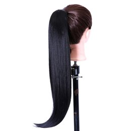 "Wholesale Horse Hair Extensions - 26"" Long Claw Clip Drawstring Ponytail Fake Hair Extensions False Hair Pony Tails Horse Tress Synthetic Hairpieces"