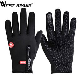 Wholesale Auto Race Gloves - Wholesale-Winter Gloves Thermal Windproof Warm Outdoor Sport Profession Luvas Guante Bicycle Motorcycle Auto Racing Black Gloves For Men