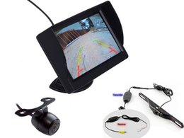 Wholesale Car Forward Camera - Wireless 4.3 Inch HD Monitor for car Wired Front Forward View Camera and Rear Camera