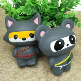 Wholesale Ninja Strap - 30pcs Mixed Wholesale Kawaii Squishy Fox Ninja,Panda Ninja slow Rising toys Cute Sweet fruit Charms Pendant Bread Kids Toy Gift Phone Straps