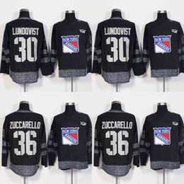 Wholesale Ranger Patches - 30 Henrik Lundqvist 36 Mats Zuccarello Jersey 2017 Centennial Classic 100 Anniversary Patch New York Rangers Hockey Jerseys Cheap