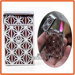 Wholesale Designer Electronic Cigarettes - Designer Jet Hot Pink Flame Torch Windproof Butane Cigar Cigarette Touch Sensor Lighter