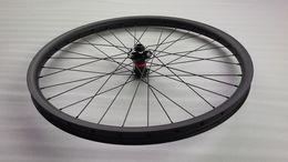 Wholesale Mountain Bike Wheel Hub - 27.5er Mountain bike carbon fiber front wheel Novatec D881SB 100mm * M15 15mm thru disc hub 650B 27.5in MTB DH DownHill bicycle Tubeless
