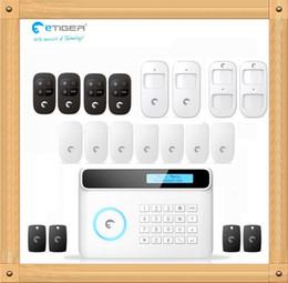 Wholesale Diy Gsm Wireless Alarm System - Free shipping eTIGER S4 Wireless GSM + PSTN Alarm System DIY Set 433Mhz Pet PIR Motion Detector