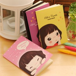 "Wholesale Girls Journal - ""Cookie Girl"" Mini Journal Notebook Planner Cute Pocket Notepad Study Memo Free Note"