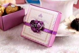 Wholesale Damask Wedding Candy Box - 50Pcs Lot Free shipping Hot Sale Damask Wedding Candy Box Chocolate Boxes 2015 Hot Sale Style