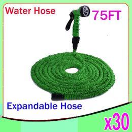 Wholesale Expandable Flexible Water Hose 75 - 75 FT Expandable Flexible WATER GARDEN hose flexible water HOSE with valve and Spray Nozzle 30PCS YX-SG-02