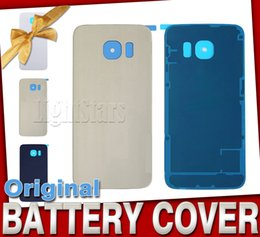 Wholesale Hot Housing - 2016 hot sell Battery Cover Glass Cover For Samsung Galaxy S7 G9200 S6 Edge G9250 with Adhesive Back Housing free DHL