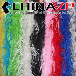 Wholesale Colored Ostrich Feathers Wholesale - Leading Supplier CHINAZP Crafts Factory 2yards lot 35G Top Quality Mix Colored Curly Ostrich Feather Boas Shawl