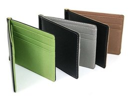Wholesale Thin Leather Man Bags - Portative Man Wallet Magic Male Card Package Fashion New PU Leather Multifunctional 2 Folds Card Holders Thin Bag