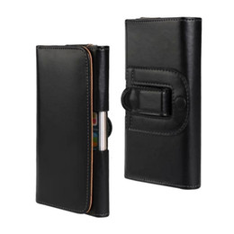 "Wholesale Cases Clip For Hanging - Universal Belt Clip Leather Case for iPhone 6 Plus 5.5"" Waist Hanged Holster"