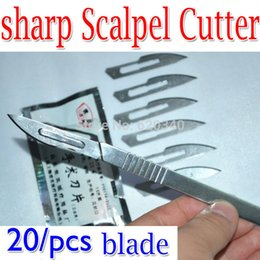 Wholesale Phone Circuit Board - No.23 Scalpel Burin Maintenance Chisel Handle +20 PCS surgical knives blades PCB Circuit board phone Membrane Sterile Beauty DIY order<$18no