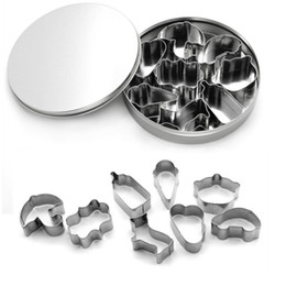 Wholesale Biscuit Dog - Dog bone Cookie cutters set ,Cream shape Stainless Steel cookiecutter,Milk bottle Cake cutter,Cute biscuit cutter set ,fondant cutter CCS08
