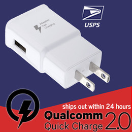 Wholesale Chinese Super Charger - 1x QC2.0 Quick Wall Travel Charger 5V 2A USB Super Fast Charger for Samsung Galaxy S6 Edge S5 Note 5 4 Moto X LG G4 Express Post