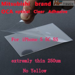 Wholesale Iphone Lcd Digitizer Clear - Microphone 200pcs Best Quality for Mitsubishi 250um Optical Clear Adhesive Oca Glass Lcd Tape Repair for Apple for Iphone 5 5s 5c Digitizer