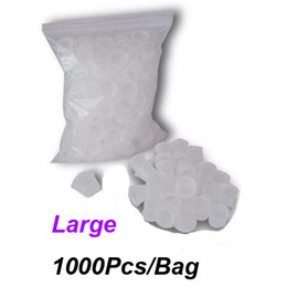 Wholesale Bags For Guns - Large Tattoo Ink Cups 1000Pcs Bag White Color For Tattoo Gun Needle Ink Cups Grips Kits