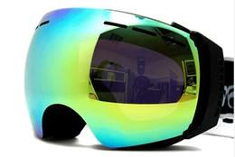 Wholesale Holding Glasses - 2014 Fashion nice skiing mirror double layer big spherical antimist ski eyewear anti-fog ski goggle can hold myopia glasses