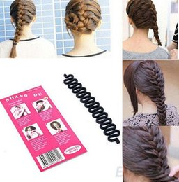 Wholesale Twist Braid Headband - HOT SELLING Magic Wonder DIY Hair Braid Braiding Queue Plait Braider Twist Hair Style Tool Maker Headband Head Piece Hair Band [JH03013*10]
